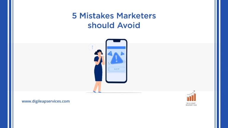 5 mistakes marketers should avoid