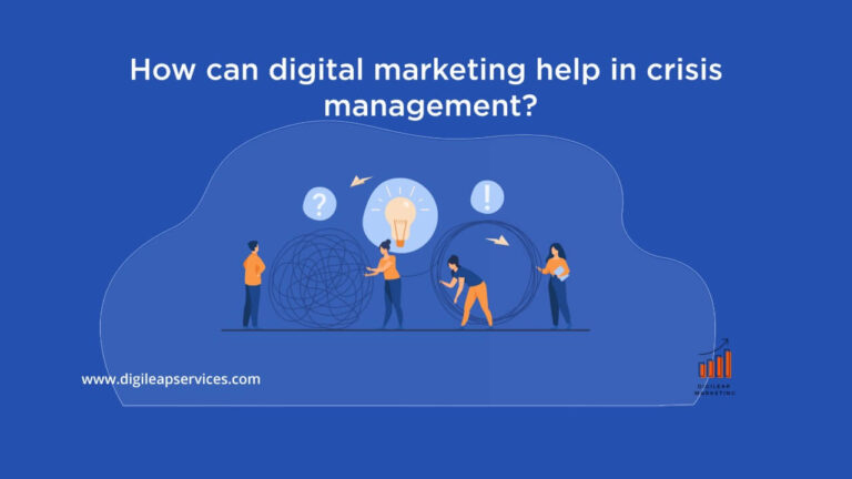 How can digital marketing help in a crisis management?